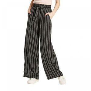NWT Xhilaration Striped Belted Soft Pants Large
